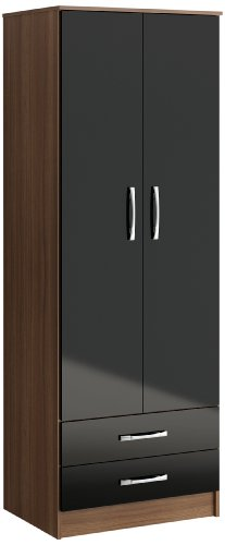 birlea lynx 2 door 2 drawer wardrobe black wardrobe door handles