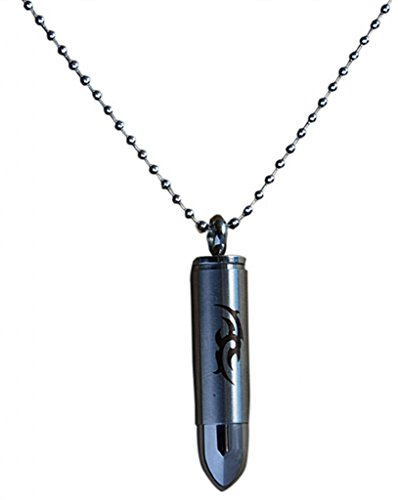 Men's 316L Stainless Steel Totem Bullet Pendant Necklace Chain,20+2″