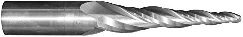 316quot Tip Dia x 3-14quot Flute Length - Solid Carbide Tapered End Mill - 1-12 Degree Per Side Ball