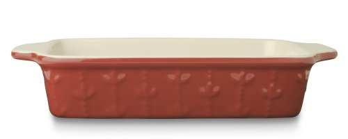 Signature Housewares Sorrento Collection 13-Inch Rectangular Baker, Ruby Antiqued Finish