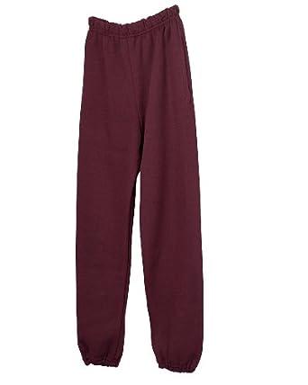 Jerzees 4850P Super Sweats 50/50 Pocketed Sweatpants-Small-Maroon