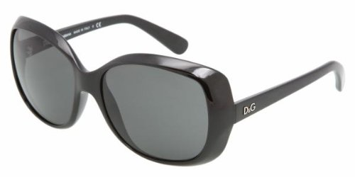 D&G Dolce & Gabbana Women's 0DD8075 Square Sunglasses,Black