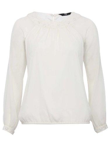 Floral laser cut blouse - petite collection - petite size blouse White 18
