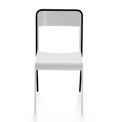 Amila - Chaise blanc/noir