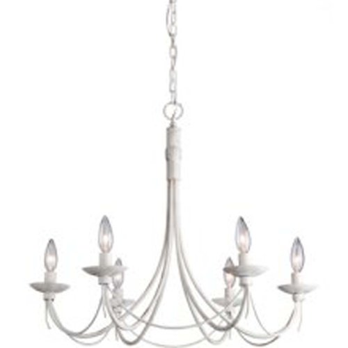 Artcraft Lighting AC1486AW Wrought Iron Six-Light Chandelier, Antique White Artcraft Lighting B0083URSQS