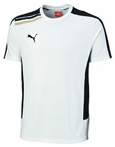 PUMA - Camiseta de fútbol sala para hombre, tamaño L, color blanco / negro