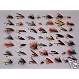 50 ASSORTED WETS - Fishing Flies Flys Fly