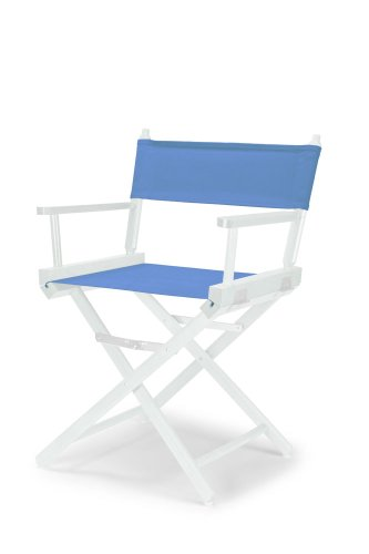 Telescope Casual Heritage Dining Height Director Chair, Periwinkle with White Frame