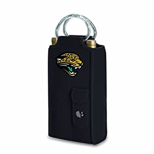 NFL Jacksonville Jaguars Metro Brunello Insulated Neoprene Two-Bottle Wine Tote with Corkscrew