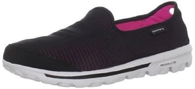 Skechers GO WalkRecovery 13514, Damen Sneaker, Schwarz (BKHP), EU 35