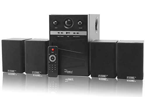 5 Core Hi-Fi Multimedia Speaker system HT-4106 Home Theater System,Compatible with different devices such as Cellphone/PC,Laptop, CD player, DVD player, Mp3 player Home Audio Speaker