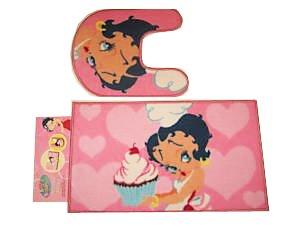 betty boop pink mat bathroom set non skid