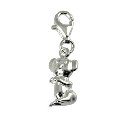 SilberDream Charm koala 925 Sterling Silver Charms Pendant with Lobster Clasp for Charms Bracelet, Necklace or Charms Carrier FC556