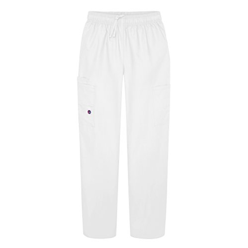 Sivvan Women's Scrubs Drawstring Cargo Pants (Available in 12 Colors) - S8200 - White - M (White Nursing Cap compare prices)