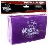 Monster Protectors Trading Card Double Deck Box with Magnetic Closure, Purple