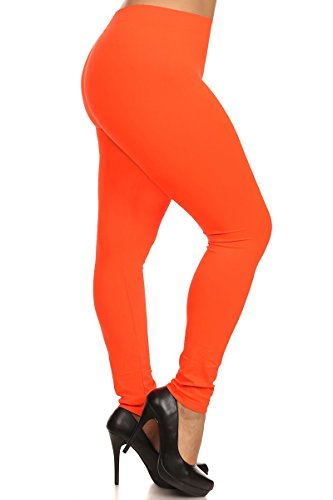 Leggings Depot Womens Leggings - Neon Orange - Many other colors available