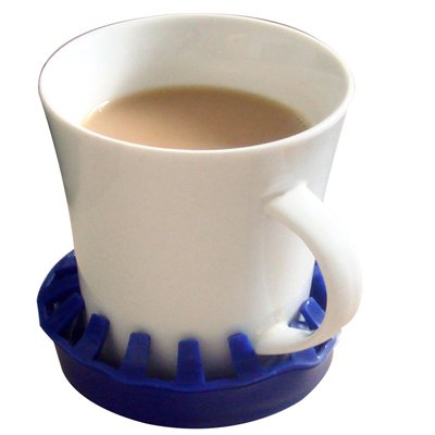 """Dycem Non-Slip Molded Cup/Can/Glass Holder (3-1/2"""" Diameter), Blue"""