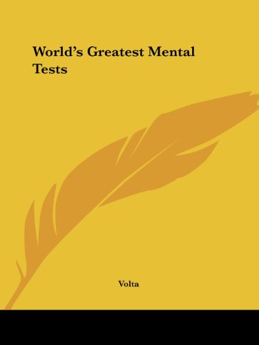 World's Greatest Mental Tests