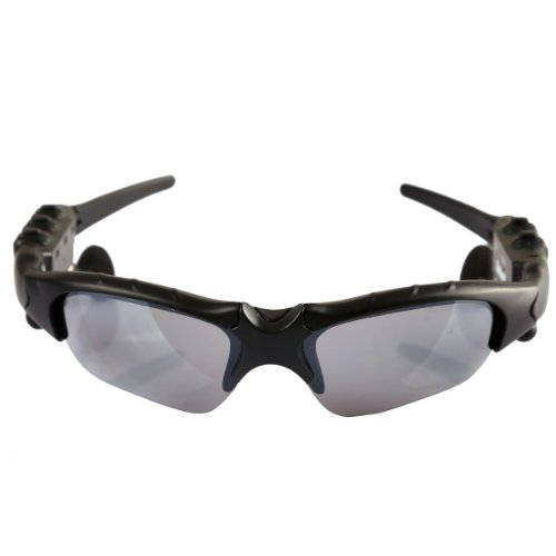 New Sport Bluetooth Sunglass 4Gb Handfree Headset Sung Lass Mp3 Player Car Sun Glass, Black