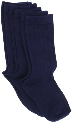 Country Kids Baby-Girls Infant Ribbed Knee 3 Pair Socks, Navy, 12-24 Months