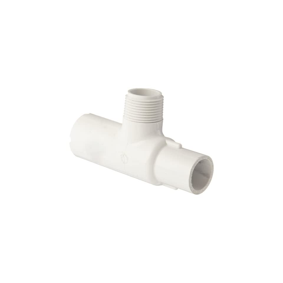 Spears 436 Series PVC Pipe Fitting White Schedule 40 1-1//4 NPT Male x Socket Adapter