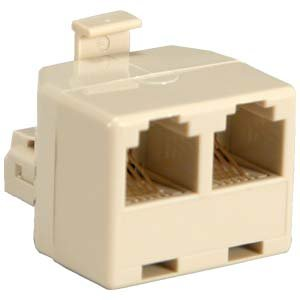 InstallerParts RJ11 1M/2F Modular T Adapter, Ivory Color