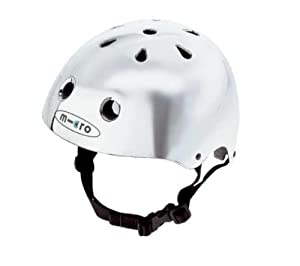 Youth Small Chrome Helmet by Micro by Micro-Mobility of Switzerland