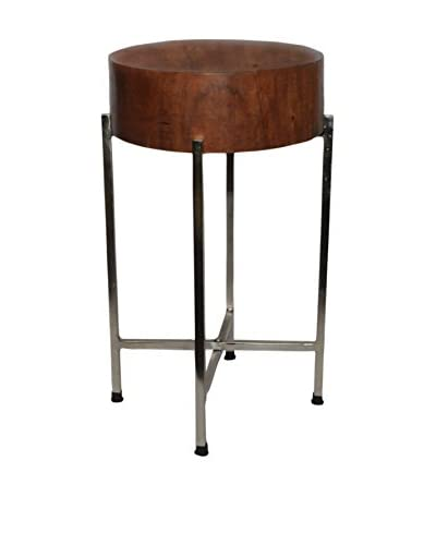 Foreign Affairs Sura Table/Stool, Natural/Silver