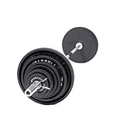 USA Sports 300 lb. Olympic Weight Set (Chrome Bar)