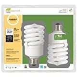 EcoSmart 23-Watt (100W) Dimmable Soft White CFL Light Bulb (2-Pack)