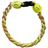 Titanium Ionic Braided Wristband - Softball