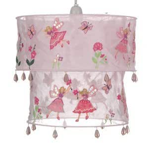 Cotton 2 tier Hoop Flower Fairy Lightshade - Light Pink
