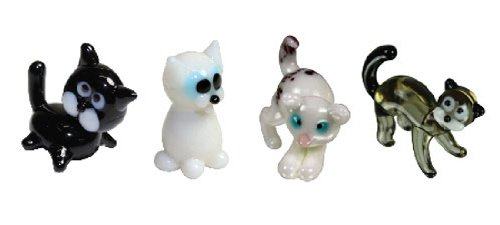 Looking Glass Miniature Collectible - Cat/Kitten (4-Pack)