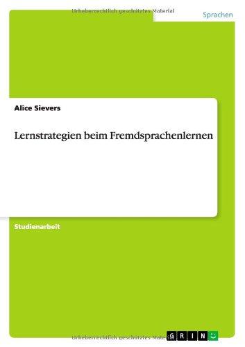 Lernstrategien beim Fremdsprachenlernen, Buch