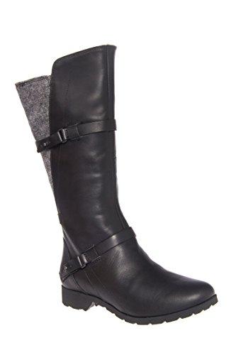 Delavina Wool Low Heel Mid Calf Boot