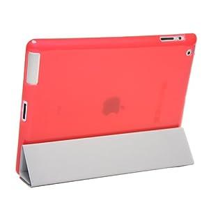 Snugg Smart Cover Companion - iPad 2 Back Cover in Red