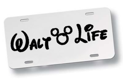 Walt Life Black White Decorative License Plate USA Decal Mickey Mouse Cute Fun Awesome Love (Heisenberg License Plate Frame compare prices)