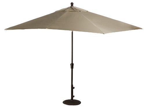 Blue Wave Caspian Rectangular Market Umbrella, 8-Feet By 10-Feet, Beige Sunbrella Acrylic