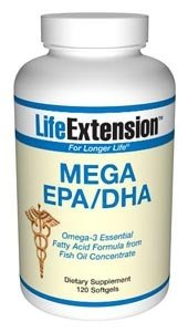 Life Extension Mega EPA/DHA, Softgels, 120-Count by Life Extension