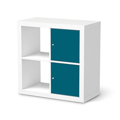 m bel sticker folie f r ikea kallax regal 2 t relemente. Black Bedroom Furniture Sets. Home Design Ideas