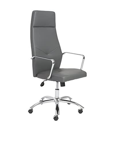 Euro Style Napoleon High Back Office Chair, Grey