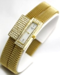 Tissot Watches- Tissot Belflower Set (Watch and Bracelet) in 18K Gold Flexible Adjustable Women's Watch