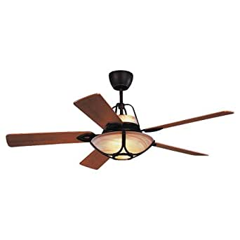 Monte Carlo 5ALR56RBD-L Alicante 56-Inch 5-Blade Ceiling Fan with Remote, Roman Bronze Finish