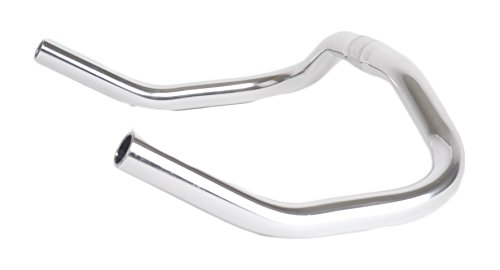 Retrospec Bicycles Pursuit Bull Horn Style Lightweight Alloy Handlebars for Track Bike, Chrome, 25.4mm (Grips For Bull Horn Bars compare prices)