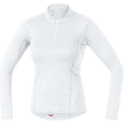 Gore Bike Wear UTNSLA010006 Maglia a collo alto, Intimo Donna, Maniche lunghe, GORE Selected Fabrics, BASE LAYER, Taglia 42, Bianco