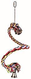 Trixie Spiral Rope Bird Perch, 50 Cm/Ø 21 Mm, For E.G. Parakeets, Parrots (Good Fun As They Climb, Bite And Skid Down!)