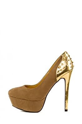 High-Heels-High-Heels-Pumps: CHICK REBELLE - Damen Plateau High Heels Pumps mit Nieten - 1638