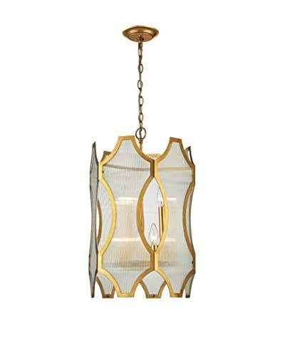 Artistic Lighting Benicia Collection 3+3-Light Pendant, Antique Gold Leaf