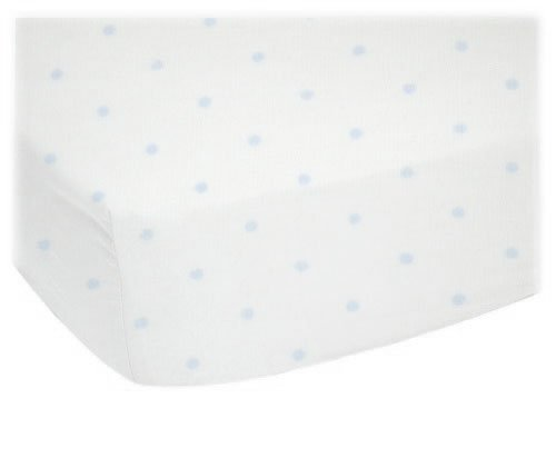 Sheetworld Fitted Pack N Play (Graco) Sheet - Blue Pindot Jersey Knit - Made In Usa
