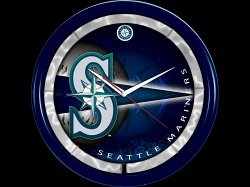 Seattle Mariners Plasma Clock by Authentic Street Signs